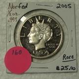2005 NORFED 10 DOLLAR 1/2 OZ. SILVER ROUND