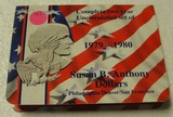 COMPLETE 2-YEAR SET OF SUSAN B. ANTHONY DOLLARS - 1979-1980 D, P, S MINTS