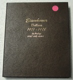 COMPLETE SET OF EISENHOWER DOLLARS W/BOOK - 1971-1978, 32 COINS