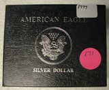 1999 SILVER EAGLE DOLLAR W/BOX