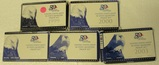 5 U.S. STATE QUARTERS PROOF SETS W/BOXES - CONSECUTIVE 1999-2003