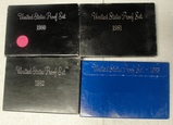 4 - 1980'S U.S. PROOF SETS W/SLEEVES - CONSECUTIVE 1980-1983