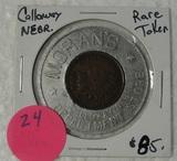MORAN'S DEPARTMENT STORE - CALLOWAY NEBR. - INDIAN HEAD CENT TOKEN