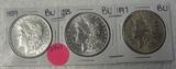 1885, 1889, 1897 BU MORGAN SILVER DOLLARS - 3 TIMES MONEY