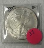 2007 BU SILVER EAGLE DOLLAR