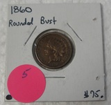 1860 ROUNDED BUST INDIAN HEAD CENT