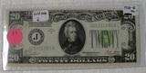 1928-B 20 DOLLAR GOLD NOTE - BANK OF KANSAS CITY, MO.