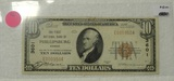 1929 TEN DOLLAR NOTE - BROWN SEAL, BANK OF PHILLIPSBURG KS.
