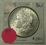 1891-S BU MORGAN SILVER DOLLAR