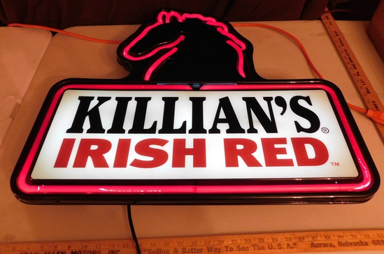 KILLIAN'S IRISH RED PLASTIC NEON SIGN - WORKS