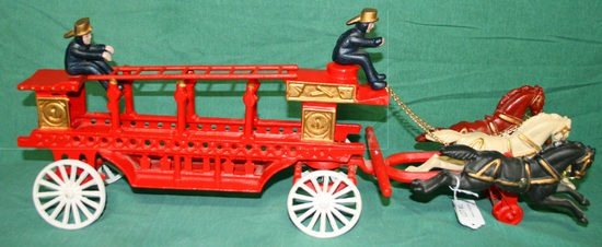 REPRODUCTION CAST IRON FIRE WAGON