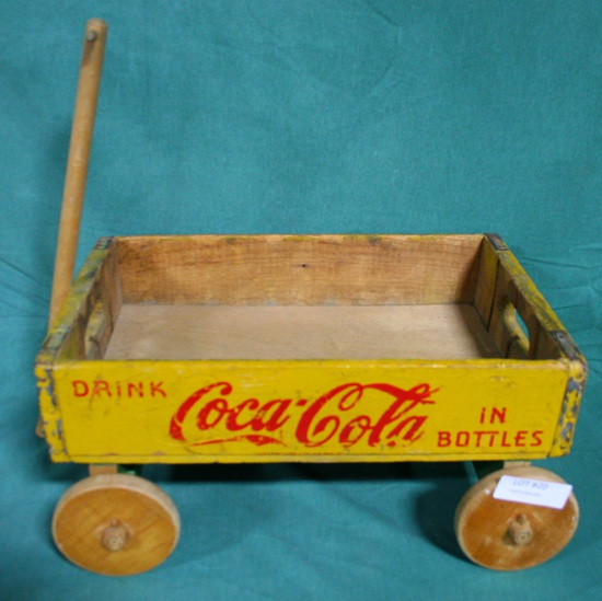 COCA-COLA WOOD CRATE WAGON - LOCAL PICKUP ONLY