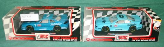 2 RACING CHAMPIONS 1/24 DIECAST FIRST PRODUCTION CARS - 2 TIMES MONEY