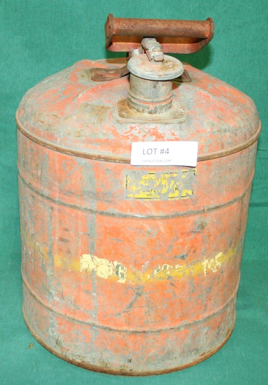 GALVANIZED SAFETY GAS CAN - LOCAL PICKUP ONLY