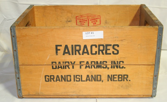 FAIRACRES DAIRY FARMS SHIPPING BOX - GRAND ISLAND NE - LOCAL PICKUP ONLY