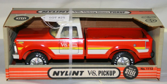 VTG. PRESSED STEEL NYLINT V&S PICKUP W/BOX - N.O.S.