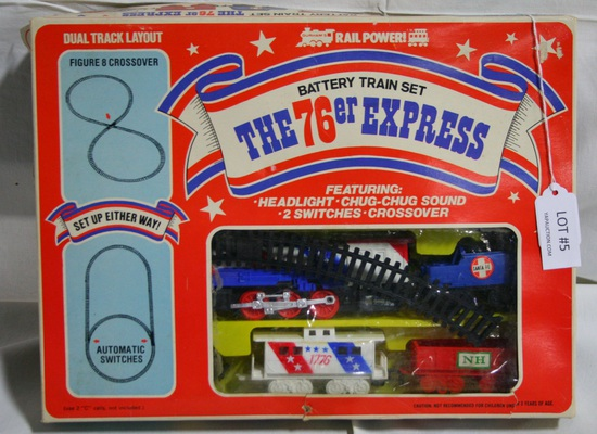 VTG. 1975 DURHAM INDUSTRIES BATTERY TRAIN SET - N.O.S. W/BOX