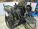 Metal Hose Rack with Misc. Hyd hose