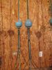 2 antique lightning rods