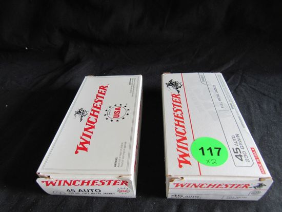 Winchester 45 Auto Cartridges