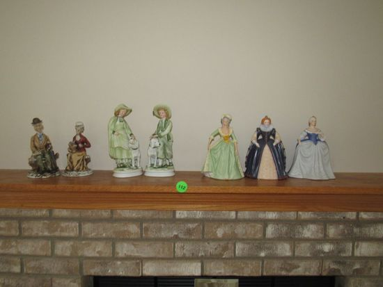 7 porcelain figurines