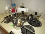 cookware and all the utensils