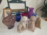 Vases and statuettes