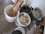 several 5 gal buckets of fish tank stones and gravel