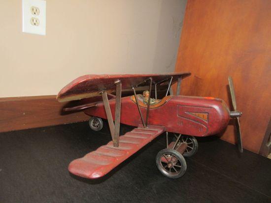 Decorative Wooden Airplane