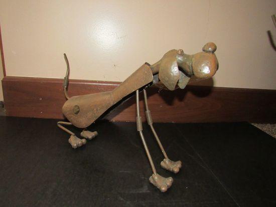 metal art dogs