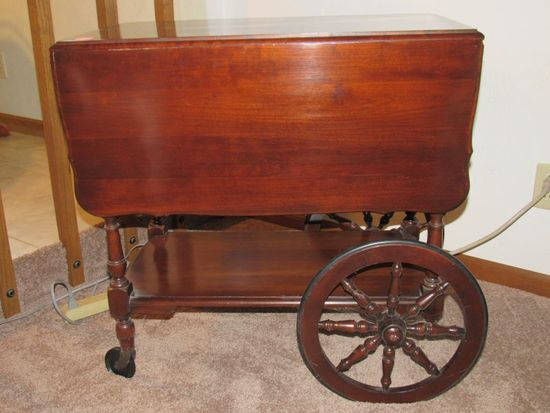 Wooden table cart