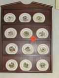 Display case with tiny plates