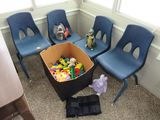 Child chairs and toys
