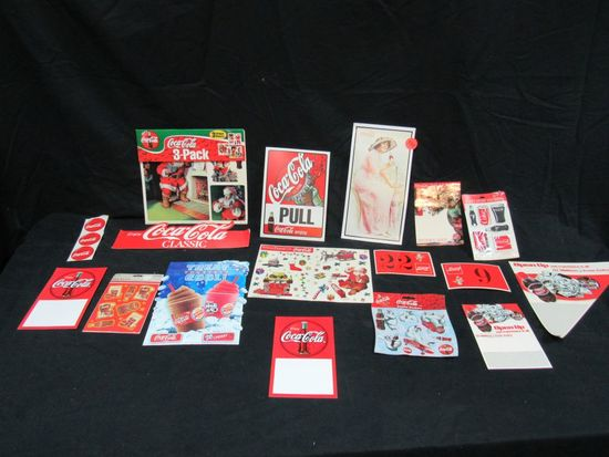 Coca Cola advertising signs, clings and stickers