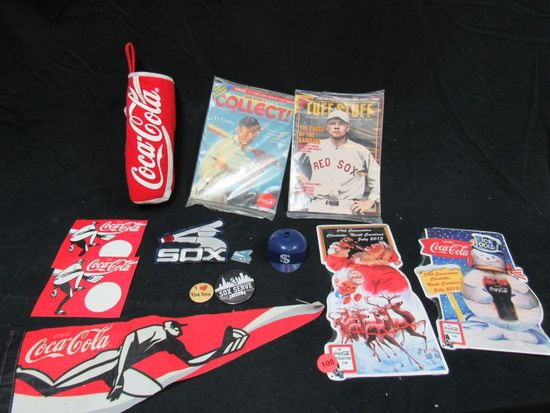 Coca Cola memberobelia and White Sox collectibles