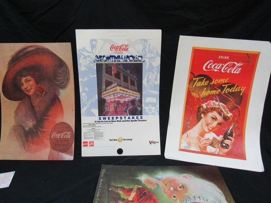 Coca Cola advertisement posters