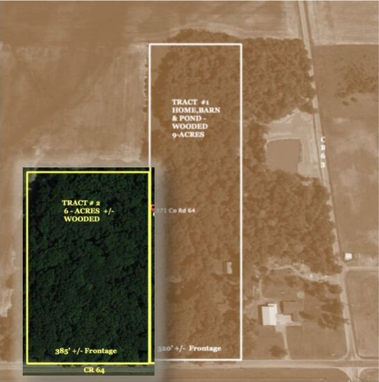 Tract 2 - (6) Acres (+/-) mostly wooded