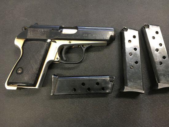 9 MM Short Single Handgun Auction