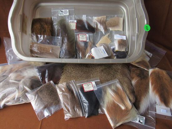 Deer and moose hair used for fly fishing