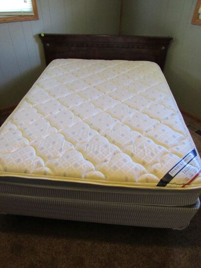 Full sized bed with frame