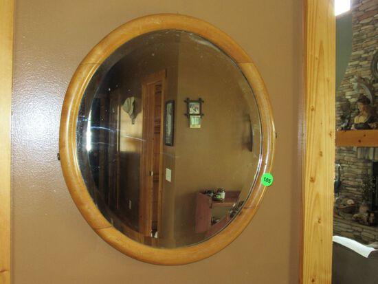Vintage brown mirror