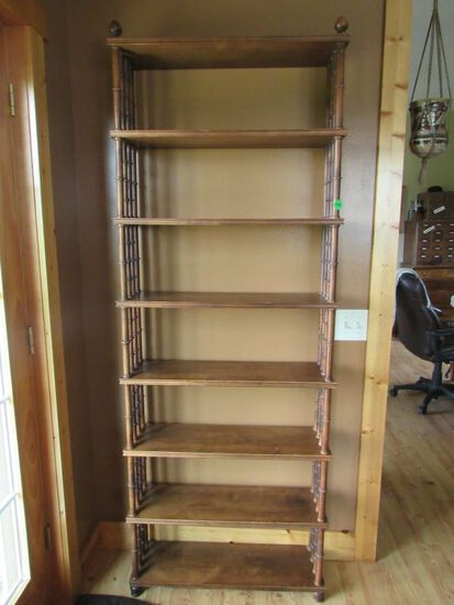 Wooden accent shelf