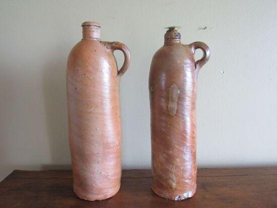 2 pc stoneware jugs