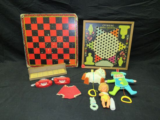 Vintage Fisher Price toys and more