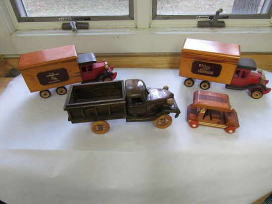 Wooden Cars and Delivery Trucks