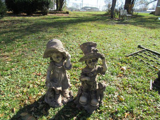 Plastic statues