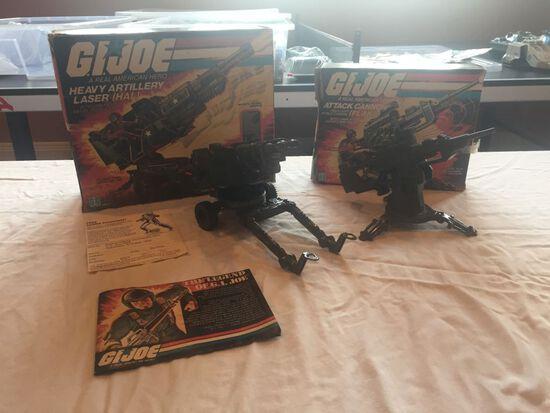 G.I Joe FLAK (Field Light Attack Cannon) and G. I. Joe Heavy Artillery Lazer (HAL)