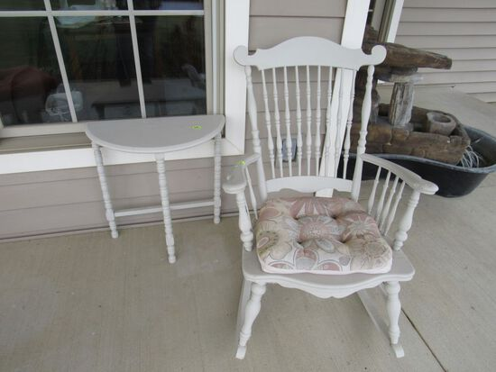 Rocker with table