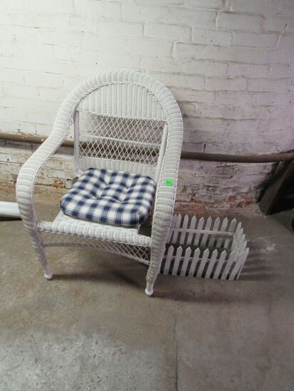 Wicker style chair and more
