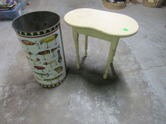 Chub trash can and wood stand